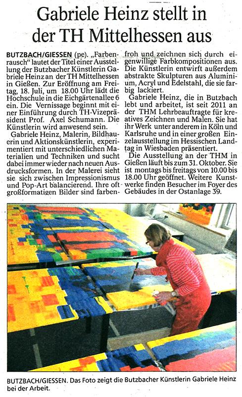 Gabriele Heinz - Butzbacher Zeitung